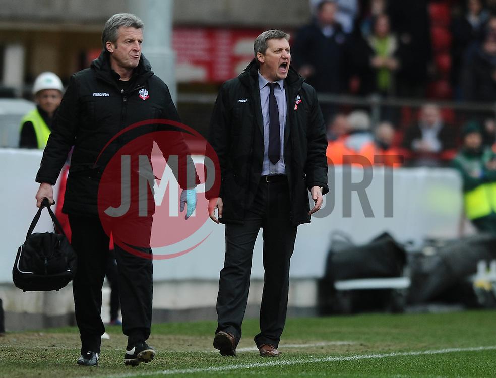 Bolton Wanderers interim Manager Jimmy Phillips - Mandatory byline: Dougie Allward/JMP - 19/03/2016 - FOOTBALL - Ashton Gate - Bristol, England - Bristol City v Bolton Wanderers - Sky Bet Championship