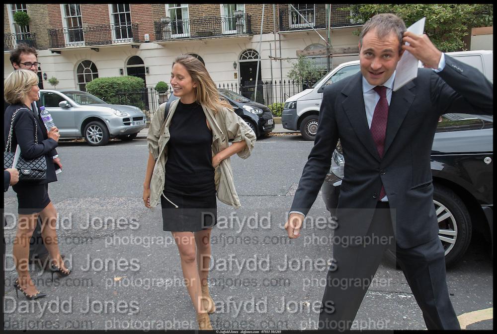 JEMIMA JONES; BEN GOLDSMITH, Memorial service for Mark Shand.  . St. Paul's Knightsbridge. September 11 2014.