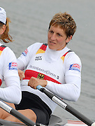 Munich, GERMANY, 31.08.2007,  GER W4X. Bow, Kathrin BORON, ,  moving away from the start in their Semi Final. Sixth day, at the 2007 World Rowing Championships, taking place on the   Munich Olympic Regatta Course, Bavaria. [Mandatory Credit. Peter Spurrier/Intersport Images].... , Rowing Course, Olympic Regatta Rowing Course, Munich, GERMANY