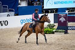 STAUT Kevin (FRA), Lorenzo<br /> Göteborg - Gothenburg Horse Show 2019 <br /> Longines FEI Jumping World Cup™ Final<br /> Training Session<br /> Warm Up Springen / Showjumping<br /> Longines FEI Jumping World Cup™ Final and FEI Dressage World Cup™ Final<br /> 03. April 2019<br /> © www.sportfotos-lafrentz.de/Stefan Lafrentz