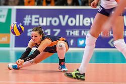 05-04-2017 NED:  CEV U18 Europees Kampioenschap vrouwen dag 4, Arnhem<br /> Nederland - Turkije 3-1 / Nederland doet zeer goede zaken en kan zich met winst op Itali&euml; zeker stellen van een halve finaleplaats - Susanne Kos #1