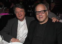 The Outstanding Contribution to UK Music Award sponsored by PPL.  winner Daniel Miller with Fran Nevrkla (PPL Chairman and CEO - left). The 2011 Music Producers Guild Awards<br /> Wednesday, Feb.10, 2011 (AP Photo/John Marshall JME)