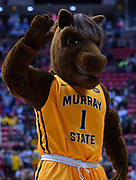 SAN DIEGO, CA - MARCH 16:  Murray State Racers mascot Dunker performs during a first round game of the Men's NCAA Basketball Tournament against the West Virginia Mountaineers at Viejas Arena in San Diego, California. West Virginia won 85-68.  (Photo by Sam Wasson)