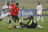 Photo: Steve Bond/Richard Lane Photography.<br /> Egypt v Sudan. Africa Cup of Nations. 26/01/2008. Mohamed Zidan (L) tries to rounf keeper Elmuez Mahgoub but is brought down for a penalty
