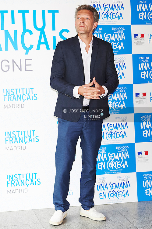 Vincent Cassel attends 'Un moment d'egarement' photocall at French Institute on September 5, 2015 in Madrid