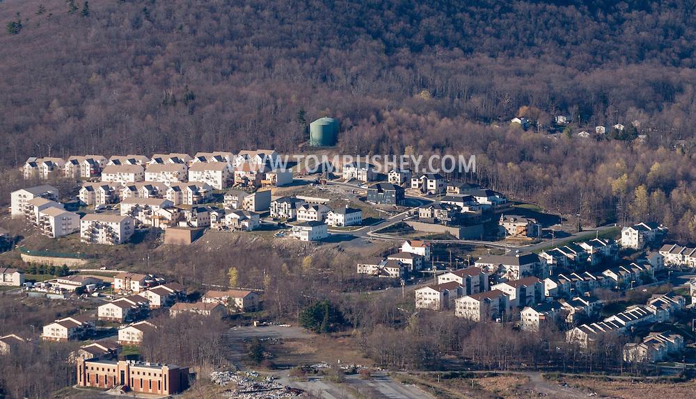 Kiryas Joel, New York - An aerial view of part of the Hasidic village of Kiryas Joel in the Town of Monroe on April 20, 2016.