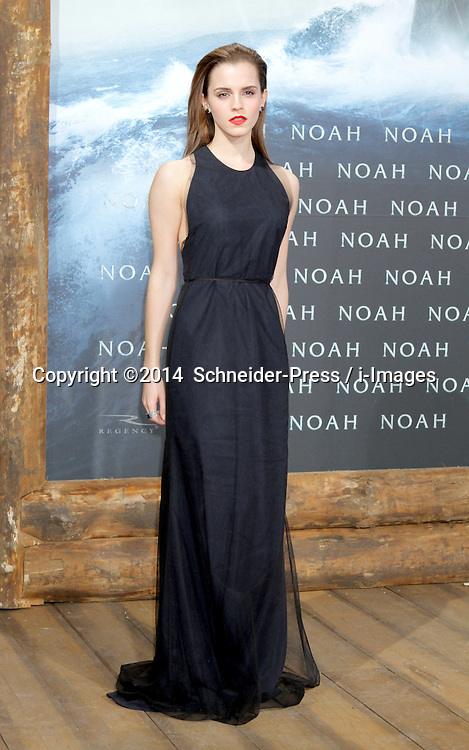 Emma Watson attends the 'Noah' Germany Premiere at Zoo Palast, Berlin, Germany.Thursday, 13th March 2014. Picture by  Schneider-Press / i-Images<br /> UK & USA ONLY