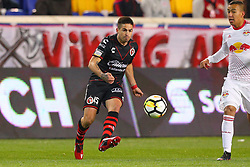 March 13, 2018 - Harrison, NJ, U.S. - HARRISON, NJ - MARCH 13:  Tijuana defender Damian Perez (15) during the second half of the CONCACAF Champions League Quarter-final match between the New York Red Bulls and Club Tijuana on March 13, 2018, at Red Bull Arena in Harrison, NJ.  (Photo by Rich Graessle/Icon Sportswire) (Credit Image: © Rich Graessle/Icon SMI via ZUMA Press)