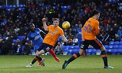 Junior Morias of Peterborough United scores the opening goal of the game - Mandatory by-line: Joe Dent/JMP - 20/01/2018 - FOOTBALL - ABAX Stadium - Peterborough, England - Peterborough United v Oldham Athletic - Sky Bet League One