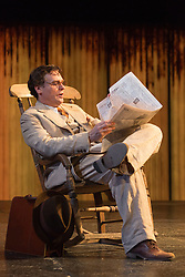 "© Licensed to London News Pictures. 25/06/2015. London, UK. Robert Sean Leonard as Atticus Finch. Photocall for ""To Kill a Mockingbird"" at the Barbican Theatre with Robert Shean Leonard as Atticus Finch and Ava Potter as Scout.  The Regent's Park Open Air Theatre production directed by Timothy Sheader will be at the Barbican from 24 June to 25 July 2015. Adapted for the stage by Christopher Sergel based on the novel by Harper Lee. Photo credit : Bettina Strenske/LNP"