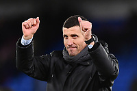 Football - 2018 / 2019 Premier League - Crystal Palace vs. Watford<br /> <br /> Watford manager Javi Gracia celebrates at the final whistle after their 2-1 victory, at Selhurst Park.<br /> <br /> COLORSPORT/ASHLEY WESTERN