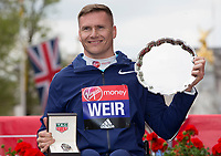 Wheelchair Men's Race winner David  Weir GBR. The Virgin Money London Marathon, 23rd April 2017.<br /> <br /> Photo: Jed Leicester for Virgin Money London Marathon<br /> <br /> For further information: media@londonmarathonevents.co.uk
