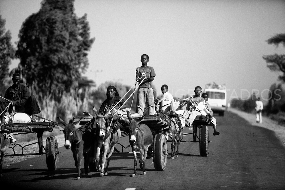on the road back to Addis,2010