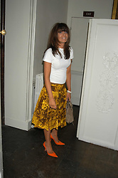 CLAUDIA WINKLEMAN at the Tatler Summer Party in association with Moschino at Home House, 20 Portman Square, London W1 on 29th June 2005.<br />