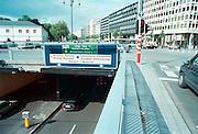 Belgie, Brussel, 2000Wegbewijzering naar de gebouwen van de Europese gemeenschap. Tunnel.Foto: Flip Franssen/Hollandse Hoogte