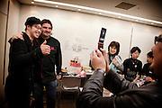 Tokyo, Japon, 30 janvier 2010 - Salon du chocolat au grand magasin de luxe Isetan, Shinjuku, 2 semaines avant la St Valentin. Sebastien Bouillet, un des quatre patissiers francais ayant une boutique chez Isetan, pose pour une photo avant sa demonstration.