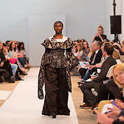 11.05. 2017.                                                 <br /> A model wears designs by Rolia Diambu, titled  Henrys Loves at Limerick School of Art & Design, LIT, the LSAD 360°Fashion Show, sponsored by AIB. Picture: Alan Place