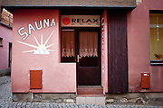 "A relax ""Sauna"" place in the city of Svitavy where Oskar Schindler was born in 1908  - now located in Czech Republic."