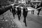 A group of women performing a fascist salute during the march.  About 2000 fascists gathered in Predappio, Italy to commemorate the annivrsary of the 'Marcia su Roma' A march held on October 28th 1922 and marked the start of the Italian fascist era .Federico Scoppa