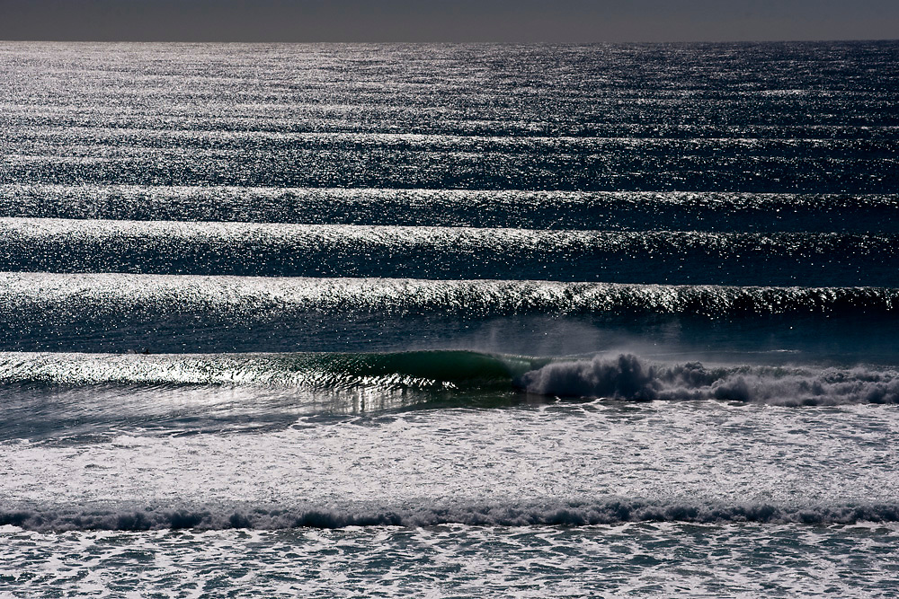 June 3rd, 2011: Line up view of Kirra on the Gold Coast, Queensland, Australia. Photo by Matt Roberts