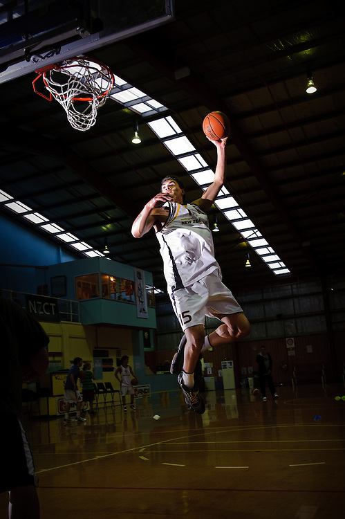 Photographs of the Wellington U18 Basketball Team competing in the U18 FIBA Oceania Youth Tourney in Noumea, 2010..Photo by Mark Tantrum