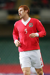 CARDIFF, WALES - WEDNESDAY, MARCH 1st, 2006: Wales' James Collins during the International Friendly match against Paraguay at the Millennium Stadium. (Pic by Dan Istitene/Propaganda)