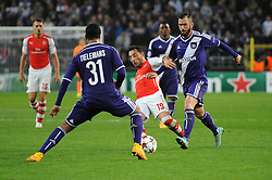Arsenal's Santi Cazorla - Photo mandatory by-line: Dougie Allward/JMP - Mobile: 07966 386802 - 22/10/2014 - SPORT - Football - Anderlecht - Constant Vanden Stockstadion - R.S.C. Anderlecht v Arsenal - UEFA Champions League - Group D