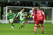 Forest Green Rovers Fabien Robert(26) controls the ball during the Vanarama National League match between Forest Green Rovers and Solihull Moors at the New Lawn, Forest Green, United Kingdom on 21 March 2017. Photo by Shane Healey.