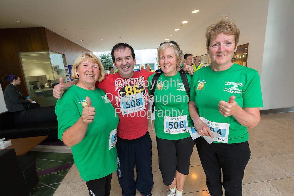 No Repro Fee<br /> <br /> <br /> 301/8/2013<br /> Mary O'Donohoe, Tommy Larkin, Ellen Howlett and Frankie Kirwan pictured at the third annual Genzyme for MS Five Mile Road Race in Waterford on Friday (Aug 30). All proceeds from the race are going to the Waterford branch of the Multiple Sclerosis Society of Ireland. <br /> <br /> Picture Dylan Vaughan.