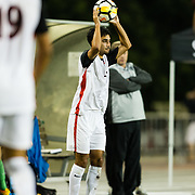 21 October 2017:  The San Diego State men's soccer team hosts Santa Clara at the Aztec Sports Deck. The Aztecs also celebrate their 50th anniversary with a jersey ceremony honoring past athletes. The Aztecs beat the Broncos 2-0.<br /> www.sdsuaztecphotos.com