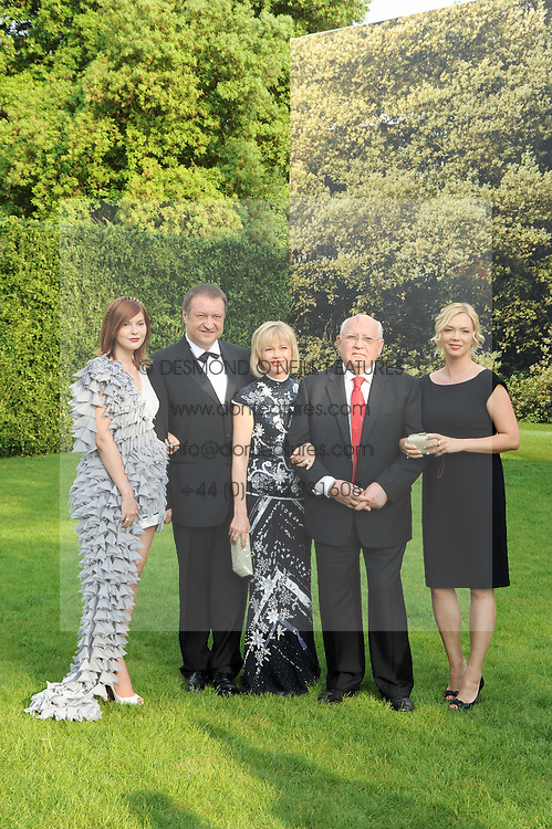 Left to right,  ANASTASIA VIRGANSKAYA, Anorey Trukhachev, IRINA VIRGANSKAYA, MIKHAIL GORBACHEV and KSENIA VIRGANSKAYA at the Raisa Gorbachev Foundation Party held at Stud House, Hampton Court Palace on 5th June 2010.  The night is in aid of the Raisa Gorbachev Foundation, an international fund fighting child cancer.