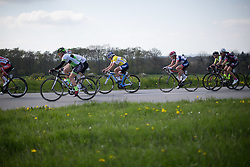 Lotta Lepistö (FIN) of Cervélo-Bigla Cycling Team rides in the chasing group on the uncategorised climb of the short lap during the second, 110.1km road race stage of Elsy Jacobs - a stage race in Luxembourg in Garnich on May 1, 2016.