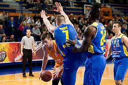Bozo Djumic of KK Helios Suns during basketball match between KK Helios Suns and KK Sencur in Playoffs of Liga Nova KBM 2017/18, on April 7, 2018 in Domzale, Slovenia. Photo by Urban Urbanc / Sportida