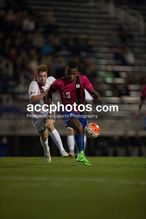 2015 October 30: Jeremy Ebobisse #19 of the Duke Blue Devils during a 2-1 win over the Virginia Tech Hokies at Koskinen Stadium in Durham, NC.