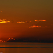The Sun's Last Gasp Over Lake Michigan