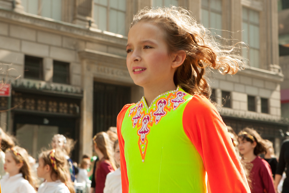 A young girl from an Irish dance school.