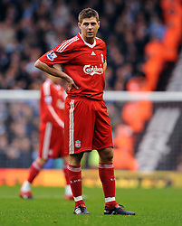 Steven Gerrard during the Barclays Premier League match between Liverpool and Manchester City at Anfield - 21/11/09
