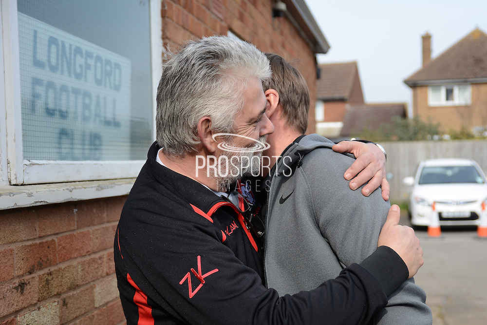 GLOUCESTERSHIRE, ENGLAND – MARCH 12: Stuart Pearce makes his debut for non-league Longford AFC as part of the #directfix campaign by Direct Line. Nick Dawe meets Stuart Pearce
