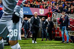 Manchester United manager Jose Mourinho walks out for the warm up - Rogan/JMP - 20/12/2017 - Ashton Gate Stadium - Bristol, England - Bristol City v Manchester United - Carabao Cup Quarter Final.