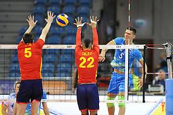 Alejandro Vigil, Augusto Renato Colito, Alen Sket during the European Championship game Spain - Slovenia on August 24, 2017 in Krakow, Poland. (Photo by Krzysztof Porebski / Press Focus)