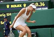 30/06/2011 - Wimbledon (Day 10) - Ladies' Singles Semi-Finals - Maria Sharapova vs. Sabine Lisicki - Maria Sharapova celebrates - Photo: Simon Stacpoole / Offside.