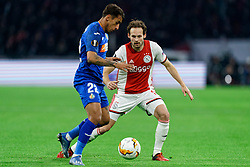 Damián Suárez #22 of Getafe, Daley Blind #17 of Ajax in action during the Europa League match R32 second leg between Ajax and Getafe at Johan Cruyff Arena on February 27, 2020 in Amsterdam, Netherlands