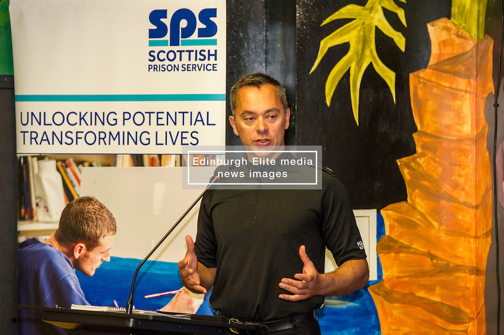 Pictured: Richard Thomas, Superintendent<br /> A new booklet was created by a group of prisoners after a Meet the Police event revealed many prisoners' children thought the police had taken their parent from them. The leaflet was launched by Mark McDonald, MSP, Minister for Childcare and Early Years at Saughton Prison, Edinburgh. The minister was joined by Scottish Prison Service chief executive Colin McConnell, PC  Tracey Gunn, Prison Link Officer Police Scotland, Nicola Ceesay, HMP Edinburgh Visitot Centre  Richard Thomas, Superintendent Police Scotland and other senior police officers<br /> <br /> <br /> Ger Harley | EEm 22 August 2016