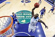 DESCRIZIONE : Eurocup 2014/15 Last 32 Gruppo H Dinamo Banco di Sardegna Sassari - Buducnost VOLI Podgorica<br /> GIOCATORE : Rakim Sanders<br /> CATEGORIA : Schiacciata Special<br /> SQUADRA : Dinamo Banco di Sardegna Sassari<br /> EVENTO : Eurocup 2014/2015<br /> GARA : Dinamo Banco di Sardegna Sassari - Buducnost VOLI Podgorica<br /> DATA : 28/01/2015<br /> SPORT : Pallacanestro <br /> AUTORE : Agenzia Ciamillo-Castoria / Luigi Canu<br /> Galleria : Eurocup 2014/2015<br /> Fotonotizia : Eurocup 2014/15 Last 32 Gruppo H Dinamo Banco di Sardegna Sassari - Buducnost VOLI Podgorica<br /> Predefinita :