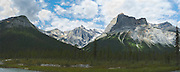 Panoramic view of Emerald Peak, Yoho National Park, near Golden, British Columbia, Canada.