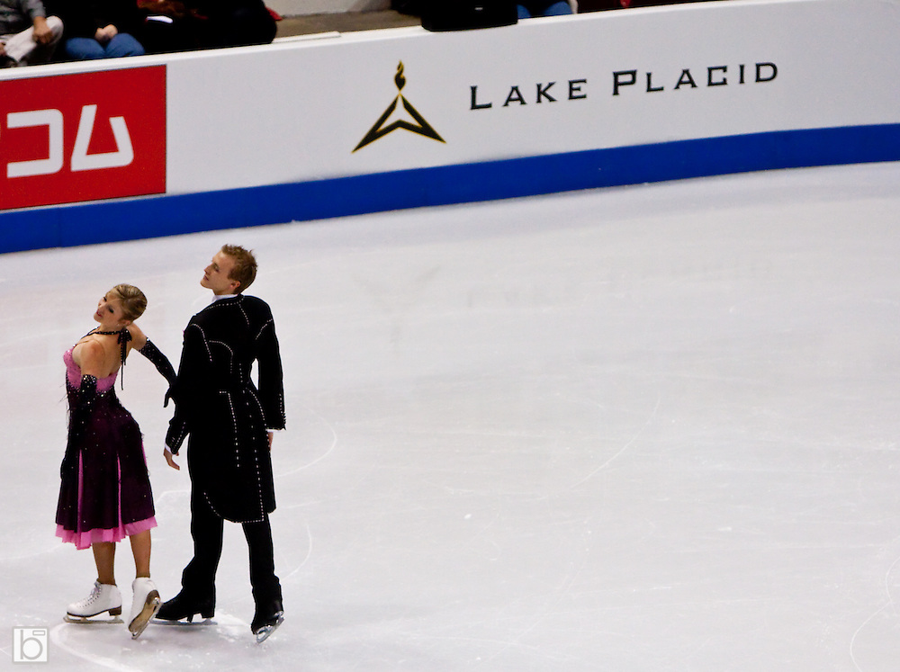 Nov 13, 2009: Zoe Blanc and Pierre-Loup Bouquet of France compete in the Compulsary Dance event at Skate America 2009 at the Herb Brooks Arena in Lake Placid, N.Y. (ORDA Photo /Todd Bissonette)