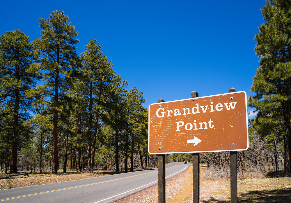 Arizona State Route 64 travels along the South Rim of Grand Canyon National Park. Most of the route through the park is known as the Desert View Drive and it connects the East Rim with Grand Canyon Village. Along the way it passes through the tall ponderosa pines and 6 developed viewpoints, including Grandview Point.