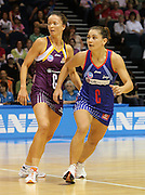 Temepara George makes position to receive a pass down court during round 4 of the ANZ Netball Championship - Queensland Firebirds v Northern Mystics. Played at Brisbane Convention Centre. Firebirds (46) defeated the Mystics (40).  Photo: Warren Keir (SMP/Photosport).<br /> <br /> Use information: This image is intended for Editorial use only (e.g. news or commentary, print or electronic). Any commercial or promotional use requires additional clearance.