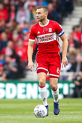 Ben Gibson of Middlesbrough - Mandatory by-line: Robbie Stephenson/JMP - 12/05/2018 - FOOTBALL - Riverside Stadium - Middlesbrough, England - Middlesbrough v Aston Villa - Sky Bet Championship