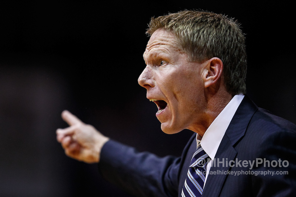 INDIANAPOLIS, IN - JANUARY 19: Head coach Mark Few of the Gonzaga Bulldogs seen during the game against the Butler Bulldogs at Hinkle Fieldhouse on January 19, 2013 in Indianapolis, Indiana. Butler defeated Gonzaga 64-63. (Photo by Michael Hickey/Getty Images) *** Local Caption *** Mark Few